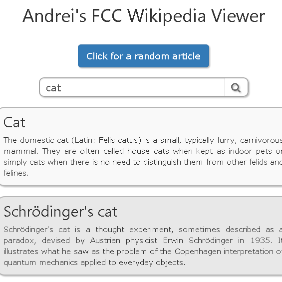 Wikipedia API Viewer